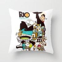 rio de janeiro Throw Pillows featuring RIO DE JANEIRO by Valter Brum