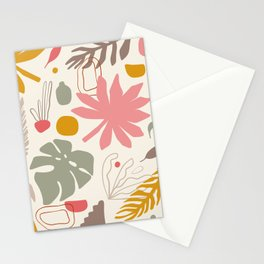 Palms and shapes Stationery Cards