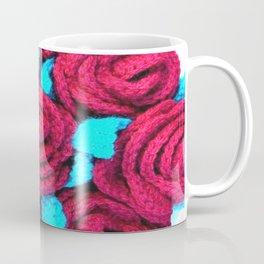 Crocheted Roses Coffee Mug