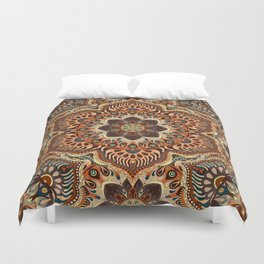 Colorful abstract ethnic floral mandala pattern design Duvet Cover