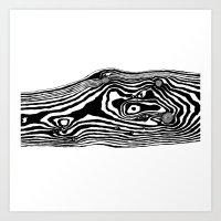 Woodgrain Illustration Art Print