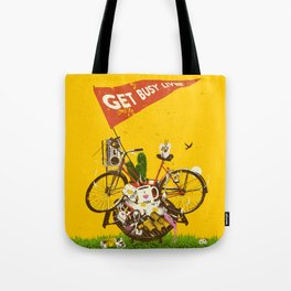 GET BUSY LIVIN Tote Bag