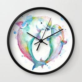 Bubbly Belugas Wall Clock