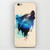 wolf iPhone & iPod Skins featuring Alone as a wolf by Robert Farkas