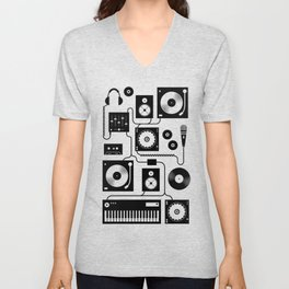 Electronica Unisex V-Neck