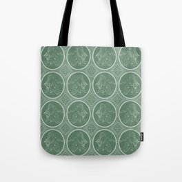 Grisaille Fern Green Neo-Classical Ovals Tote Bag