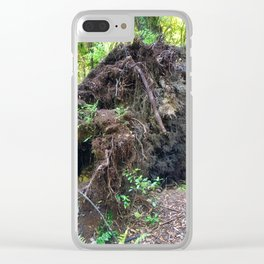 Uprooted Tree Clear iPhone Case