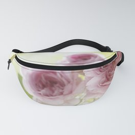 Pink Roses in crystal bowl - Vintage Stilllife - Rose Flower Fanny Pack