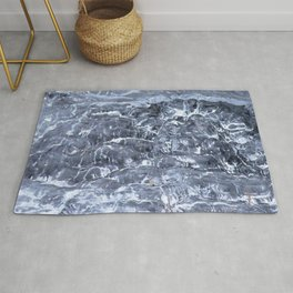 Watercolor Ice 52, Marble Ice Rug