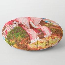 Las Vegas Pink Elephant Floor Pillow