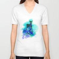 bambi V-neck T-shirts featuring bambi by anneamanda