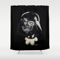 boob Shower Curtains featuring Boob Vader by Nataliette
