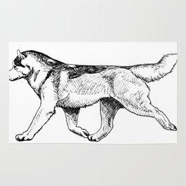 Male Siberian Husky Rug