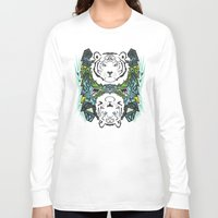 tigers Long Sleeve T-shirts featuring Tigers #3 by Ornaart