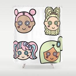 Cutie Pies Shower Curtain