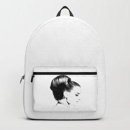 Woman Portrait Fashion Minimal Drawing Backpack