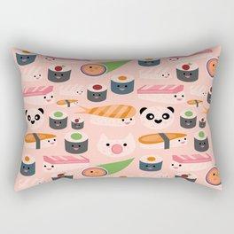 Kawaii sushi light pink Rectangular Pillow