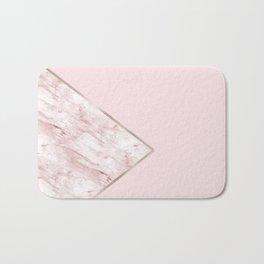 Blush pink geo - pink marble Bath Mat