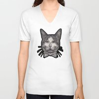 garfield V-neck T-shirts featuring Garfield by Kevin Willsey