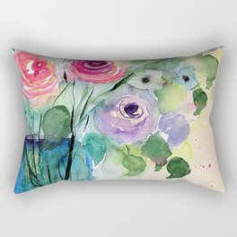Colourful Bouquet Of Roses Rectangular Pillow