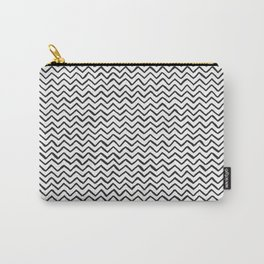 Black and white Hand-drawn ZigZag Pattern Carry-All Pouch