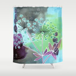 Water Hemlock Shower Curtain