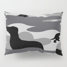 Grey Camo Weiner Dogg Pillow Sham