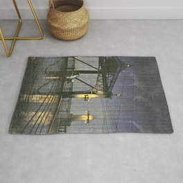 Kawase Hasui - Twenty Views Of Tokyo, Shinohashi Bridge - Digital Remastered Edition Rug