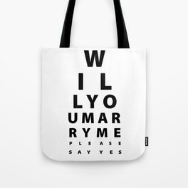 Marriage proposal funny Engagement Wedding Gift Tote Bag