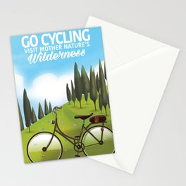 Go Cycling . - Visit mother nature's Wilderness. Stationery Cards