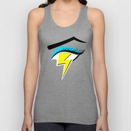 Lightning Eye Girl Silent Rage Unisex Tank Top