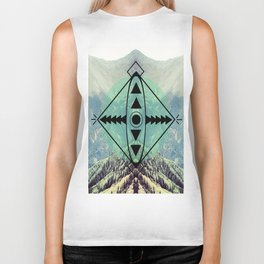Mountians and Print Biker Tank