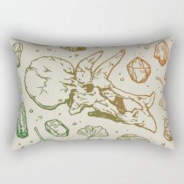 Triceratops Rocks! | Leaf Green & Pumpkin Spice Ombré Rectangular Pillow