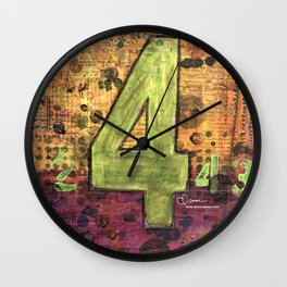 Journey by Number: 4 Repeated Wall Clock
