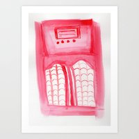 radio Art Prints featuring Radio by radiantlee