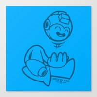 mega man Canvas Prints featuring Mega Man by La Manette