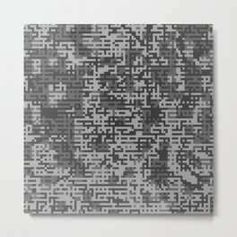 Pixelized Abstract Pattern / GRAY Metal Print