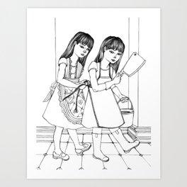 Up To No Good Art Print