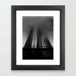Downtown Toronto Fogfest No 11 Framed Art Print