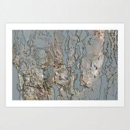 organic abstract digital drawing Art Print
