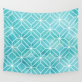 Geometric Crystals: Sea Glass Wall Tapestry