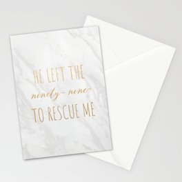 He left the Ninety Nine To Rescue Me Stationery Cards