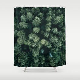 Forest from above - Landscape Photography Shower Curtain