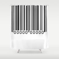 sale Shower Curtains featuring FOR SALE by THE USUAL DESIGNERS