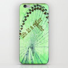 Life is a roller coaster iPhone & iPod Skin