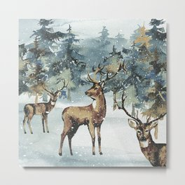 Winterly Forest 3 Metal Print