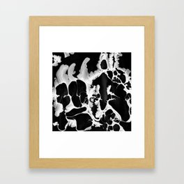 Black And White Wet Paint Modern Pattern Photography Framed Art Print