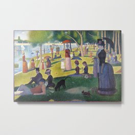 A Sunday on La Grande Jatte by Georges Seurat, 1884 Metal Print