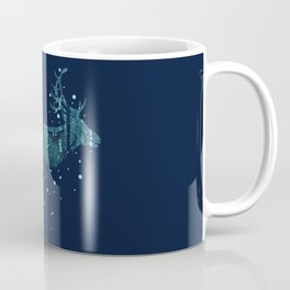Walking deer silhouette with forest Coffee Mug