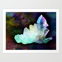Crystalline Shine Art Print